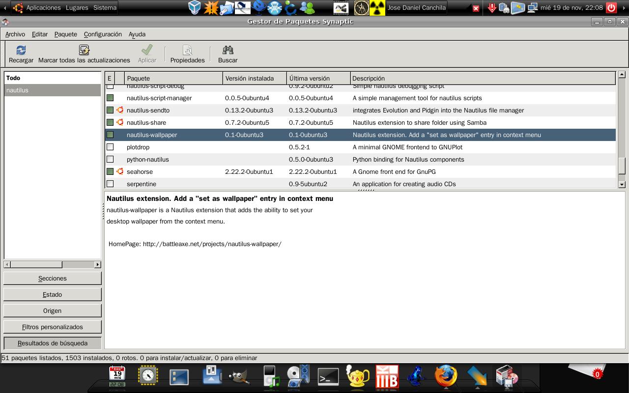 Set as wallpaper asignar como fondo de pantalla menu for Fondo de pantalla ubuntu